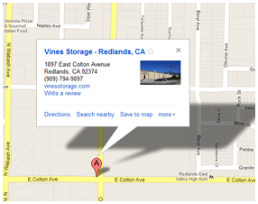Redlands Storage - Map